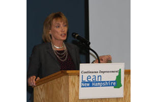 Governor Hassan speaking at Lean Summit 2013