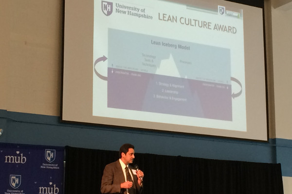 Paul Demello speaking at the Lean Summit